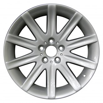 "Perfection Wheel® - 19"" Refinished 10 Spokes Bright Fine Silver Full Face Factory Alloy Wheel"