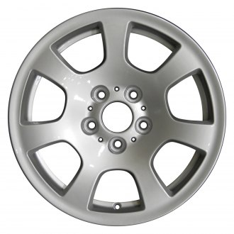 "Perfection Wheel® - 16"" Refinished 7 Spokes Bright Fine Metallic Silver Full Face Factory Alloy Wheel"