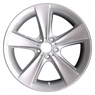 "Perfection Wheel® - 19"" Refinished 5 Spokes Bright Medium Silver Full Face Factory Alloy Wheel"