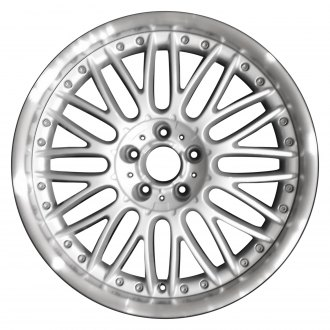 "Perfection Wheel® - 19"" Refinished Snowflake Design Bright Fine Silver Flange Cut Factory Alloy Wheel"