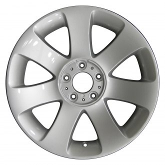 "Perfection Wheel® - 18"" Refinished 7 Spokes Bright Fine Silver Full Face Factory Alloy Wheel"