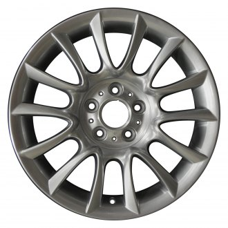 "Perfection Wheel® - 18"" Refinished 7 V Spokes Hyper Sparkle Silver Gray Base Full Face Factory Alloy Wheel"