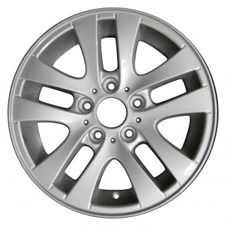 "Perfection Wheel® - 16"" Refinished 5 Split Spokes Bright Medium Silver Full Face Factory Alloy Wheel"