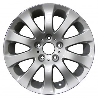 "Perfection Wheel® - 17"" Refinished 10 Spokes Bright Medium Silver Full Face Factory Alloy Wheel"