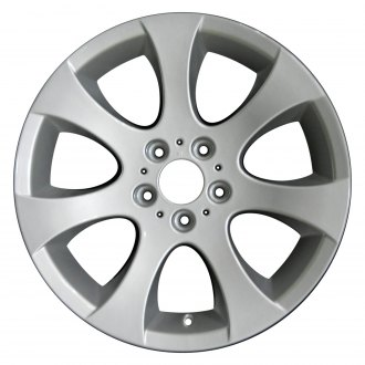 "Perfection Wheel® - 18"" Refinished 7 Spokes Bright Medium Silver Full Face Factory Alloy Wheel"