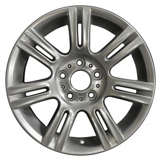 "Perfection Wheel® - 17"" Refinished 7 Double Spokes Hyper Bright Mirror Silver Full Face Factory Alloy Wheel"