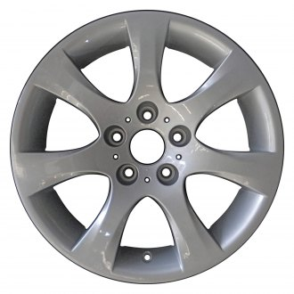 "Perfection Wheel® - 17"" Refinished 7 Spokes Bright Medium Silver Full Face Factory Alloy Wheel"