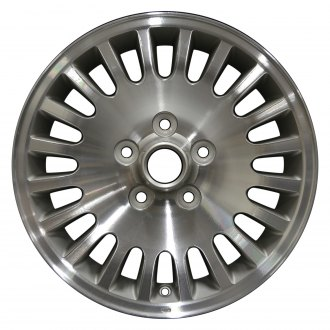 "Perfection Wheel® - 16"" 20-Spoke Champagne Silver Machine Painted Hub Factory Alloy Wheel (Refinished)"