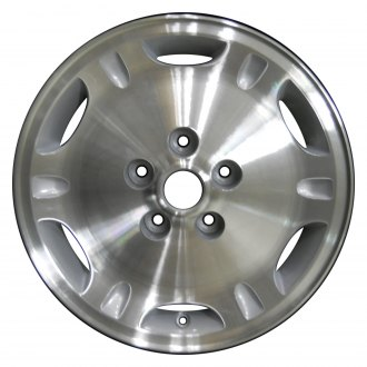 "Perfection Wheel® - 16"" 6-Slot Fine Metallic Silver Machined Factory Alloy Wheel (Refinished)"
