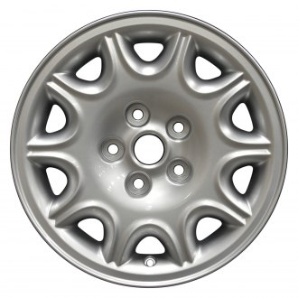 "Perfection Wheel® - 16"" 10-Slot Hyper Bright Silver Full Face Factory Alloy Wheel (Refinished)"