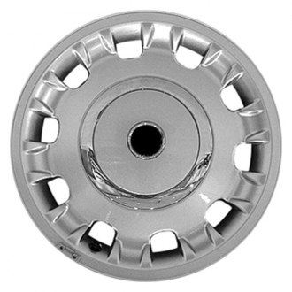 "Perfection Wheel® - 16"" 10-Slot Bright Fine Metallic Silver Full Face Factory Alloy Wheel (Refinished)"
