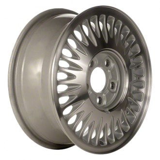 "Perfection Wheel® - 15"" 30-Slot Bright Fine Metallic Silver Machined Factory Alloy Wheel (Refinished)"