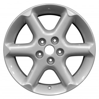 "Perfection Wheel® - 17"" Refinished 6 Spokes Bright Fine Silver Full Face Factory Alloy Wheel"