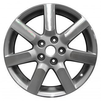"Perfection Wheel® - 17"" Refinished 7 Spokes Fine Metallic Silver Machined Factory Alloy Wheel"
