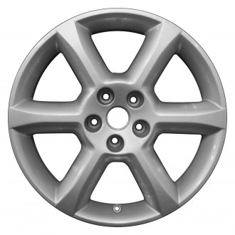 "Perfection Wheel® - 18"" Refinished 6 Spokes Bright Fine Silver Full Face Factory Alloy Wheel"