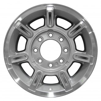 2007 hummer h2 replacement factory wheels rims carid Stock H2 Wheels perfection wheel 17x8 5 7 spoke bright sparkle silver machined alloy factory