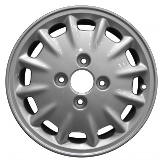 "Perfection Wheel® - 15"" Refinished 12 Slot Bright Medium Silver Full Face Factory Alloy Wheel"