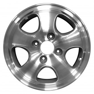 "Perfection Wheel® - 15"" Refinished 5 Spokes Medium Argent Charcoal Machined Factory Alloy Wheel"