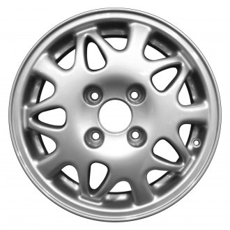 "Perfection Wheel® - 15"" Refinished 15 Slot Dark Champagne Metallic Silver Full Face Factory Alloy Wheel"