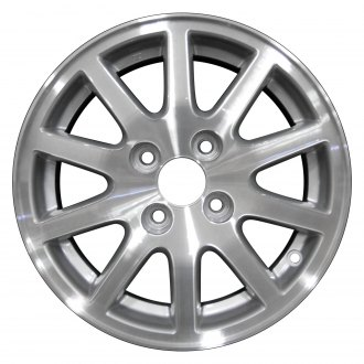 2005 honda civic replacement factory wheels rims carid 07 Civic Si Red perfection wheel 14x5 5 10 spoke medium silver machined alloy factory wheel