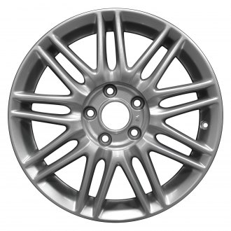 "Perfection Wheel® - 17"" Refinished 18 Spokes Bright Metallic Silver Full Face Factory Alloy Wheel"
