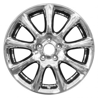 "Perfection Wheel® - 18"" Refinished 9 Spokes PVD Bright Full Face Factory Alloy Wheel"