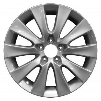 "Perfection Wheel® - 18"" Refinished 10 Spokes Bright Medium Silver Full Face Factory Alloy Wheel"