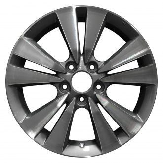 "Perfection Wheel® - 17"" Refinished 5 Split Spokes Light Charcoal Machined Factory Alloy Wheel"