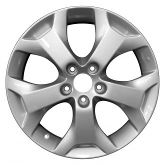 "Perfection Wheel® - 18"" Refinished 5 Spokes Bright Fine Silver Full Face Factory Alloy Wheel"