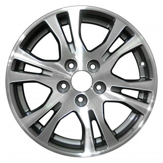 "Perfection Wheel® - 17"" Refinished 6 Split Spokes Dark Sparkle Charcoal Machined Factory Alloy Wheel"