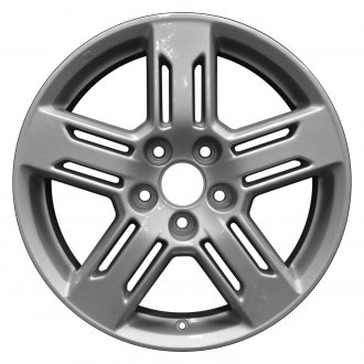 "Perfection Wheel® - 18"" Refinished 5 Slotted Spokes Bright Medium Silver Full Face Factory Alloy Wheel"