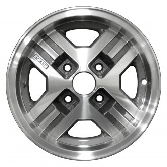 Perfection Wheel® - 13x5.5 4-Slot Medium Metallic Charcoal Machined Alloy Factory Wheel (Refinished)