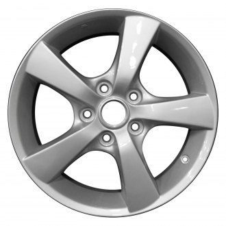 "Perfection Wheel® - 16"" Refinished 5 Spokes Bright Fine Silver Full Face Factory Alloy Wheel"