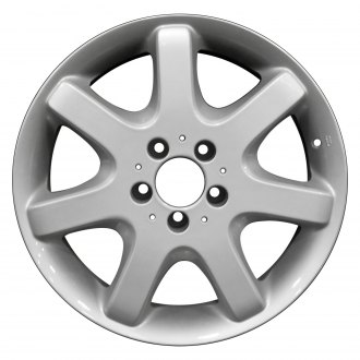 "Perfection Wheel® - 17"" Refinished 7 Spokes Bright Fine Silver Full Face Factory Alloy Wheel"
