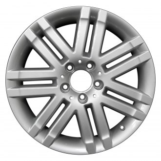 "Perfection Wheel® - 17"" Refinished 7 Double Spokes Bright Fine Metallic Silver Full Face Factory Alloy Wheel"