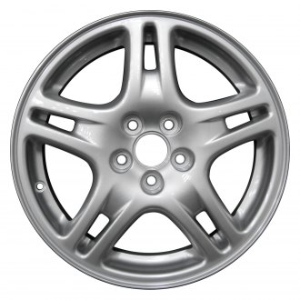 "Perfection Wheel® - 16"" Refinished 5 Double Spokes Bright Fine Silver Full Face Factory Alloy Wheel"