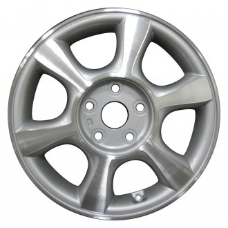 "Perfection Wheel® - 16"" Refinished 6 Spokes Medium Sparkle Silver Machined Factory Alloy Wheel"