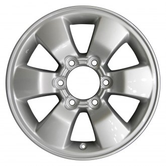 "Perfection Wheel® - 16"" Refinished 6 Spokes Bright Fine Silver Full Face Factory Alloy Wheel"