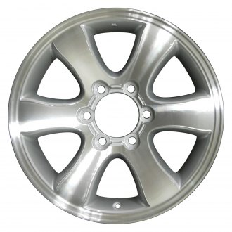 "Perfection Wheel® - 17"" Refinished 6 Spokes Medium Silver Machined Factory Alloy Wheel"