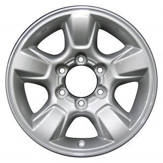 2005 toyota tundra replacement factory wheels rims carid 2003 Tundra PreRunner perfection wheel 16x7 5 spoke bright fine silver full face alloy factory wheel
