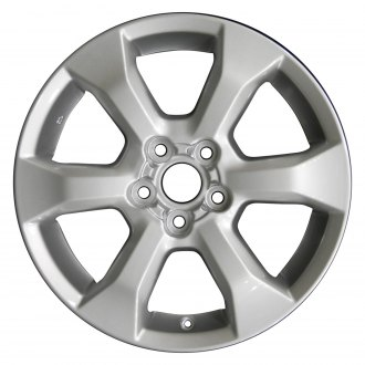 "Perfection Wheel® - 17"" Refinished 6 Spokes Bright Medium Silver Full Face Factory Alloy Wheel"