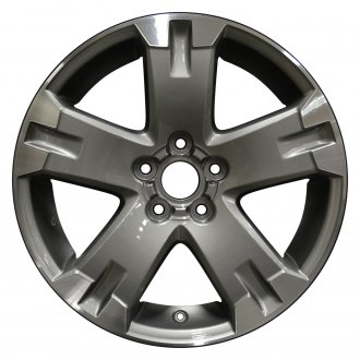 "Perfection Wheel® - 18"" Refinished 5 Spokes Medium Metallic Charcoal Flange Cut Factory Alloy Wheel"