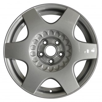 "Perfection Wheel® - 16"" Refinished 6 Spokes Fine Sparkle Silver Full Face Factory Alloy Wheel"