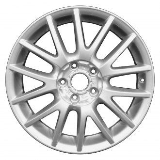 2007 volkswagen golf gti replacement factory wheels rims carid 2011 VW Golf GTI Rear perfection wheel 17x7 14 spoke fine bright silver full face alloy factory wheel