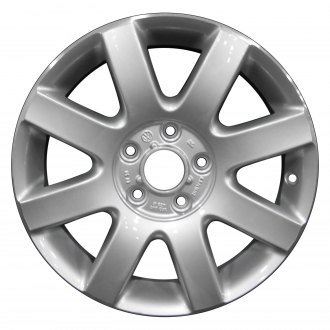 "Perfection Wheel® - 16"" Refinished 8 Spokes Bright Fine Metallic Silver Flange Cut Factory Alloy Wheel"