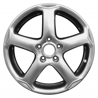 "Perfection Wheel® - 17"" Refinished 5 Spokes Hyper Bright Smoked Silver Full Face Factory Alloy Wheel"