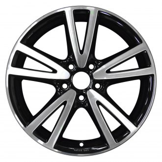 "Perfection Wheel® - 17"" Refinished 5 Double Spokes Gloss Black Machined Bright Factory Alloy Wheel"