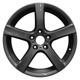 "Perfection Wheel® - 17"" Refinished 5 Spokes Bright Metallic Charcoal Full Face Factory Alloy Wheel"