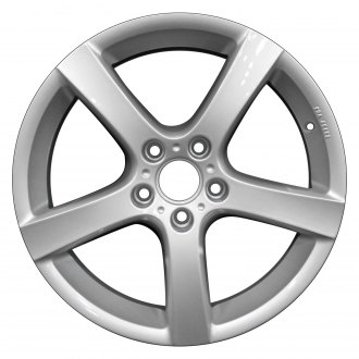 "Perfection Wheel® - 17"" Refinished 5 Spokes Bright Fine Silver Full Face Factory Alloy Wheel"