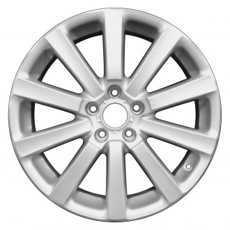 "Perfection Wheel® - 18"" Refinished 10 Spokes Bright Fine Metallic Silver Flange Cut Factory Alloy Wheel"
